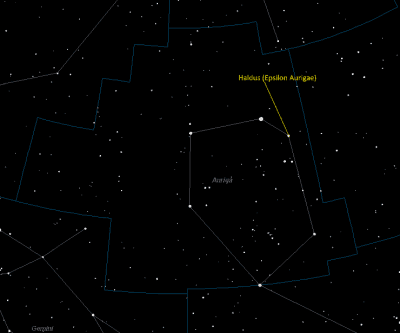 Almaaz Location in Auriga
