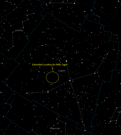 NML Cygni Location in Cygnus