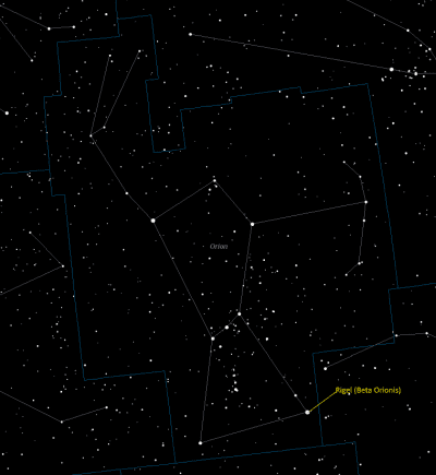 Rigel (Beta Orionis, 19 Orionis) Star Facts - Universe Guide