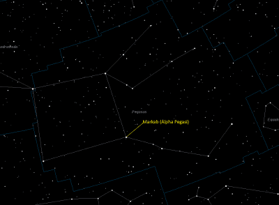 Markab (Alpha Pegasi) Location in Pegasus