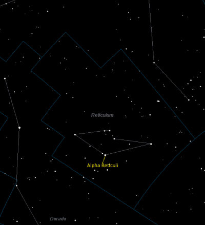Alpha Reticuli Location in Reticulum