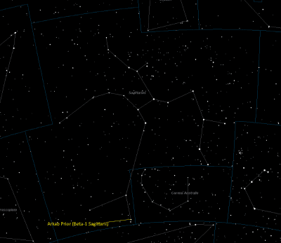 Arkab Prior Location in Sagittarius