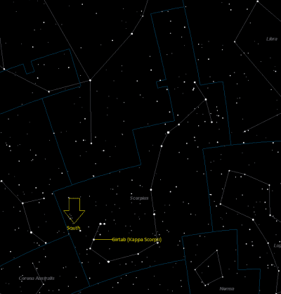Girtab Location in Scorpius
