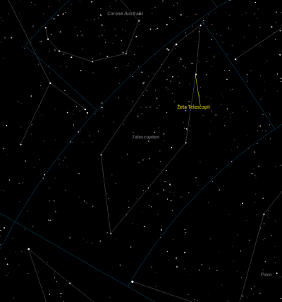 Zeta Telescopii Location in Telescopium