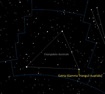 Gatria Location in Triangulum Australe
