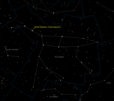 Alioth Location in Ursa Major