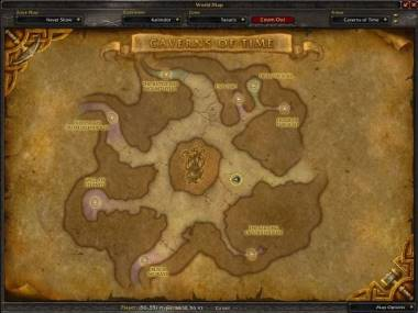 Map of Caverns of Time showing the location of Culling of Stratholme.