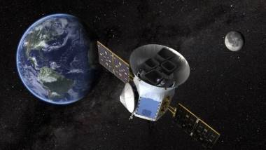 N.A.S.A. Artists impression of Tess in orbit round the Earth.