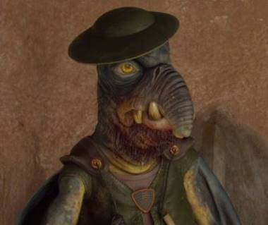 Watto from Star Wars played by Andrew Secombe.