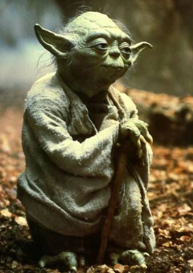 Yoda from Star Wars played by Frank Oz ( Voice ).