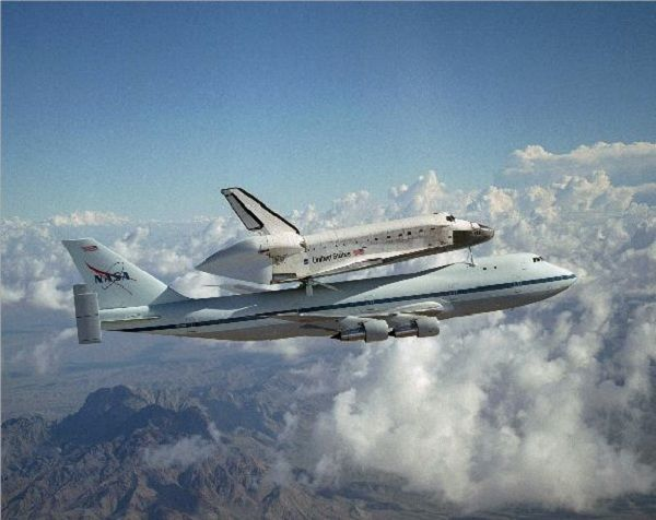 Space Shuttle Piggy Back