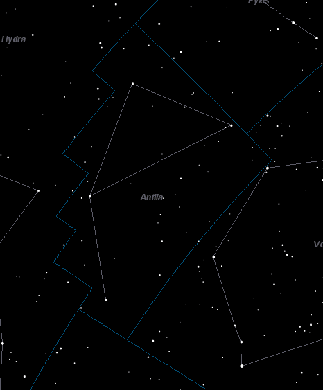 Antlia Constellation Star Map