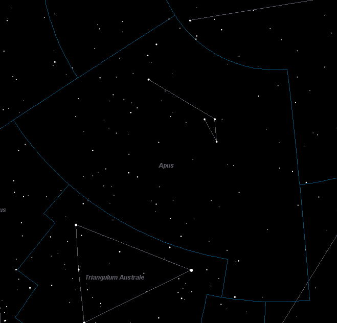 Apus Constellation Star Map