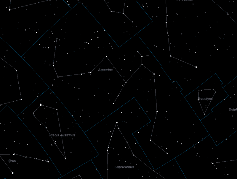 Aquarius Constellation Star Map