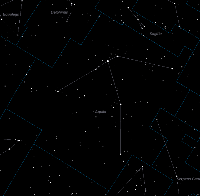 Aquila Constellation Star Map
