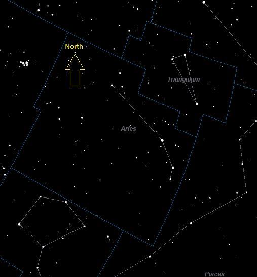 Aries Constellation Star Map