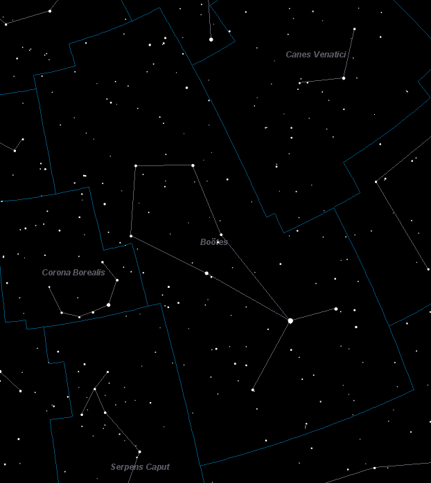 Boötes Constellation Star Map