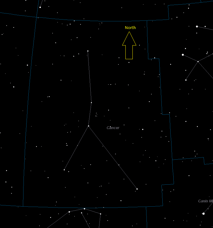 Cancer Constellation Star Map