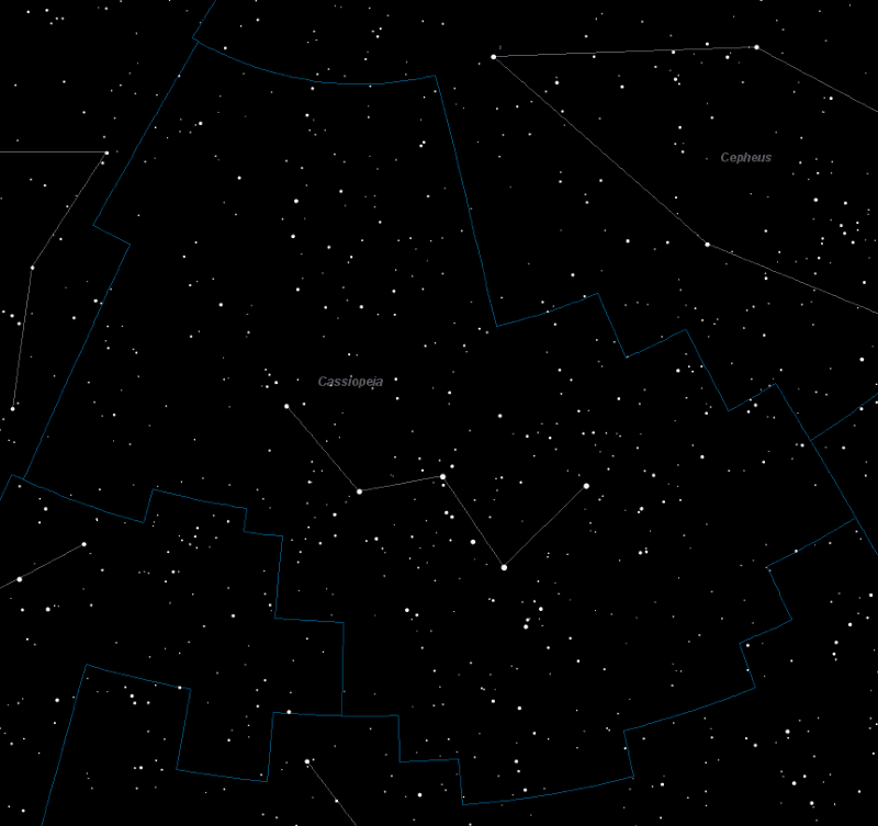 Cassiopeia Constellation Star Map