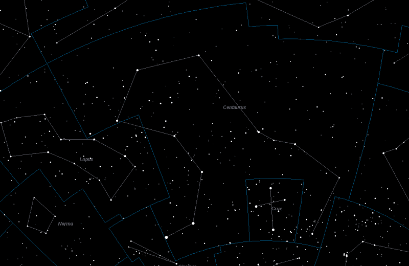 Centaurus Constellation Star Map