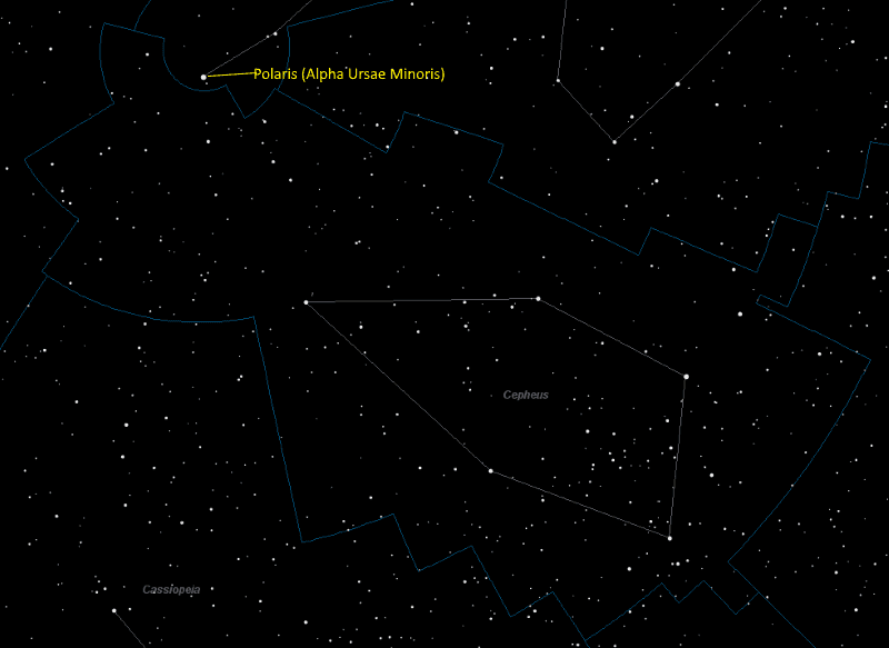 Cepheus Constellation Star Map