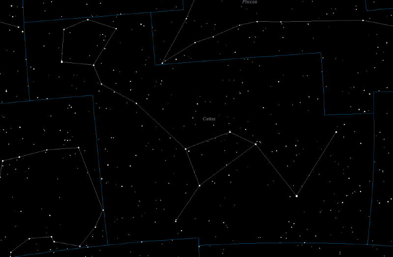 Cetus Constellation Star Map