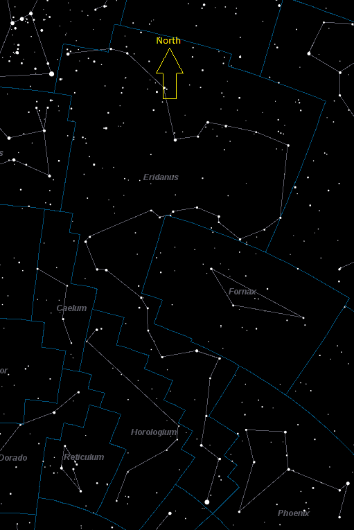 Eridanus Constellation Star Map