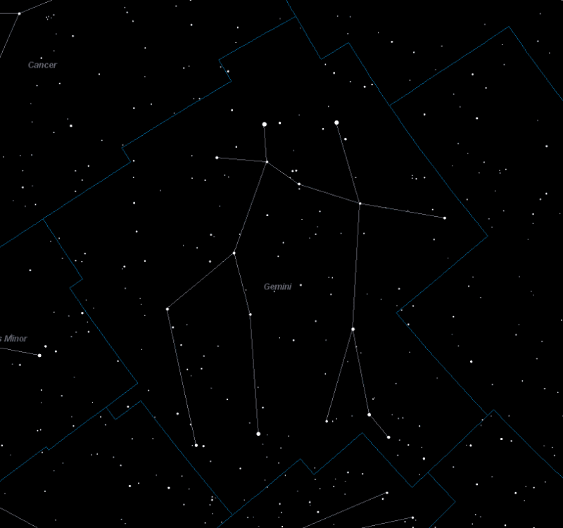 Gemini Constellation Star Map