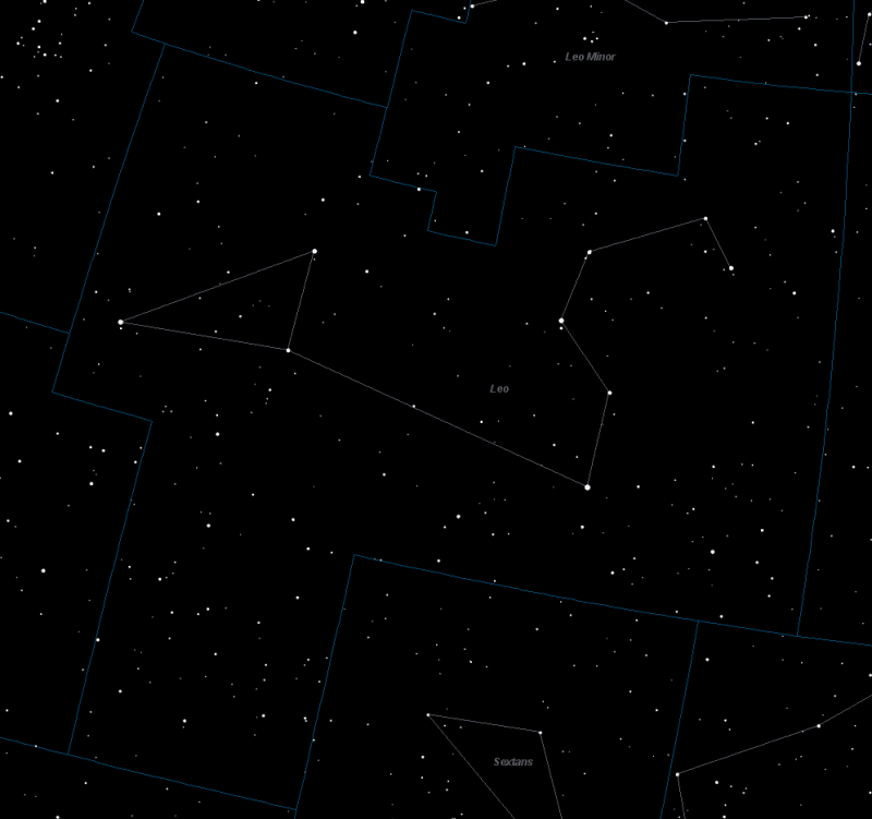 Leo Constellation Star Map