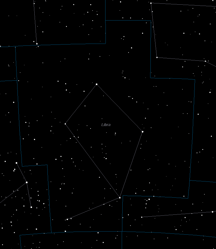 Libra Constellation Star Map