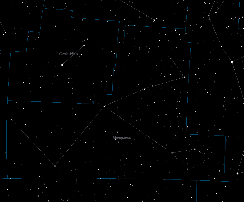 Monoceros Constellation Star Map