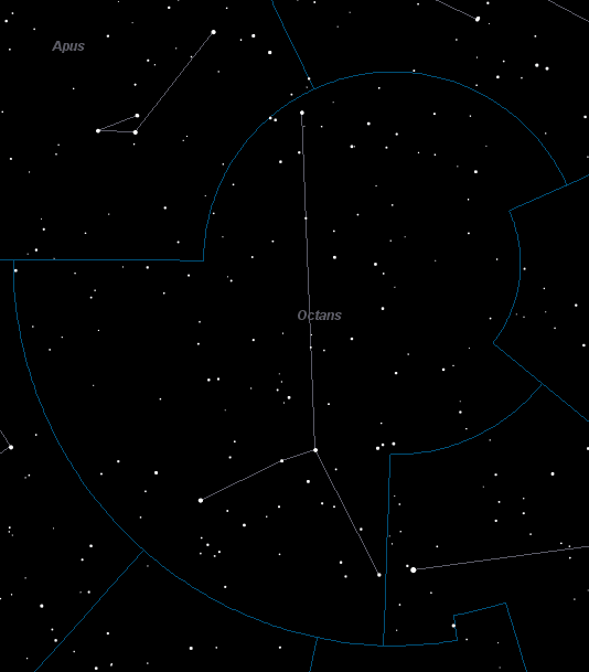 Octans Constellation Star Map