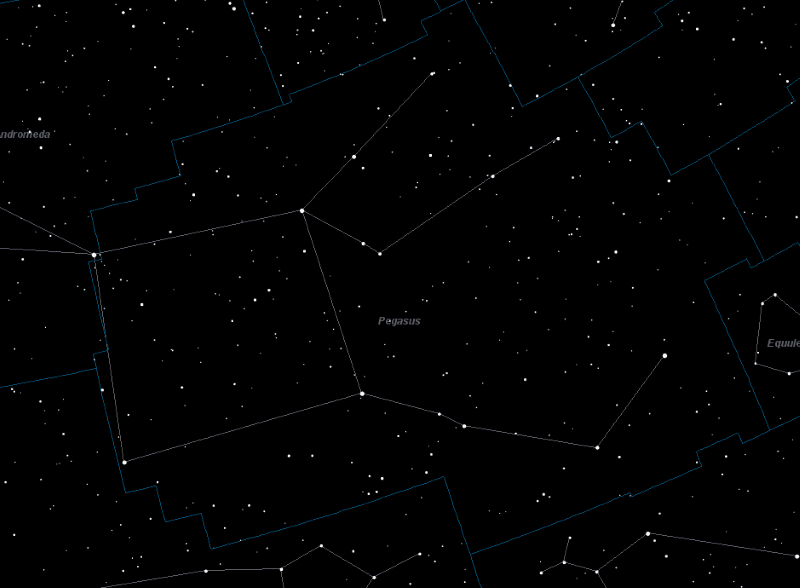 Pegasus Constellation Star Map