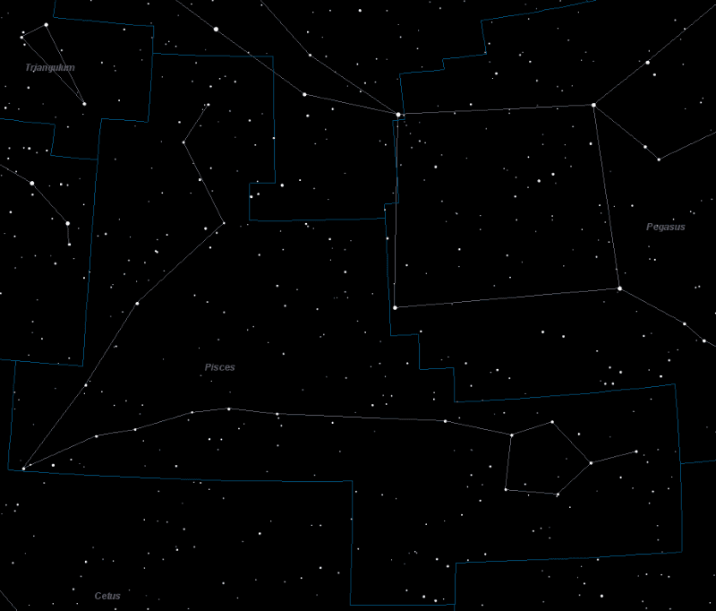 Pisces Constellation Star Map