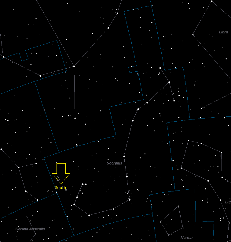 Scorpius Constellation Star Map