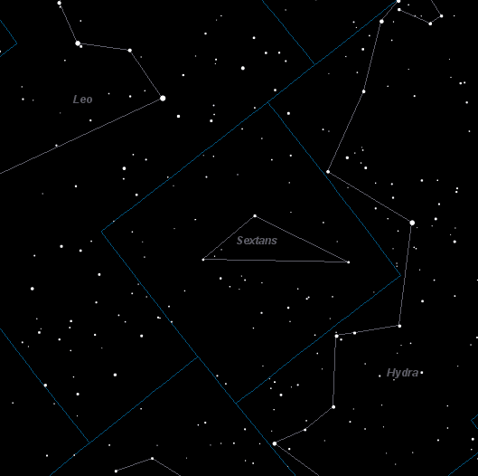 Sextans Constellation Star Map
