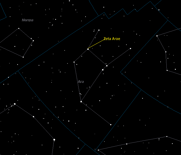 Zeta Arae (Zeta Arae) Location in Ara