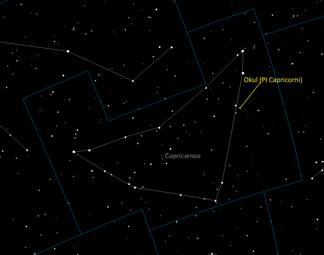 Okul (Pi Capricorni) Location in Capricornus