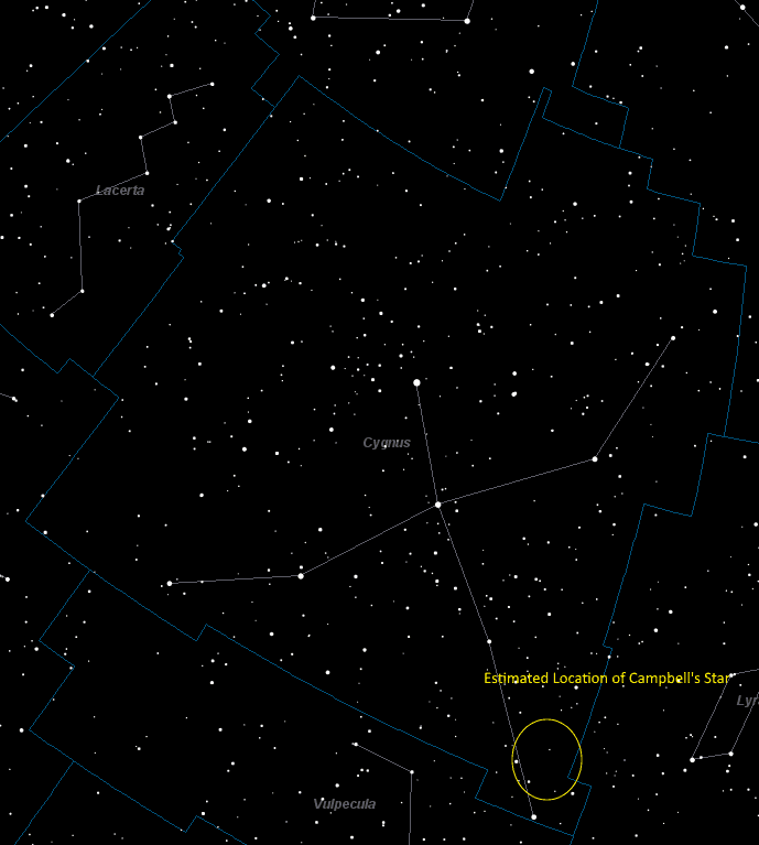 Campbell's Star Location in Cygnus