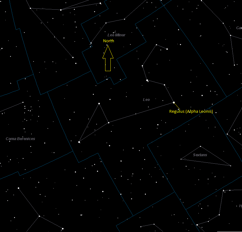 Regulus (Alpha Leonis) Location in Leo