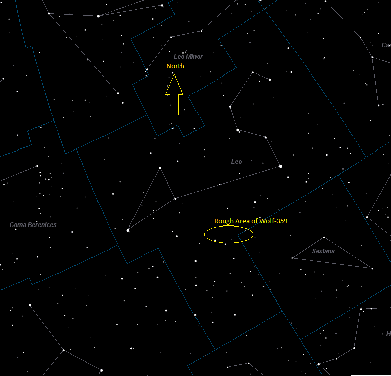 Wolf 359 Location in Leo