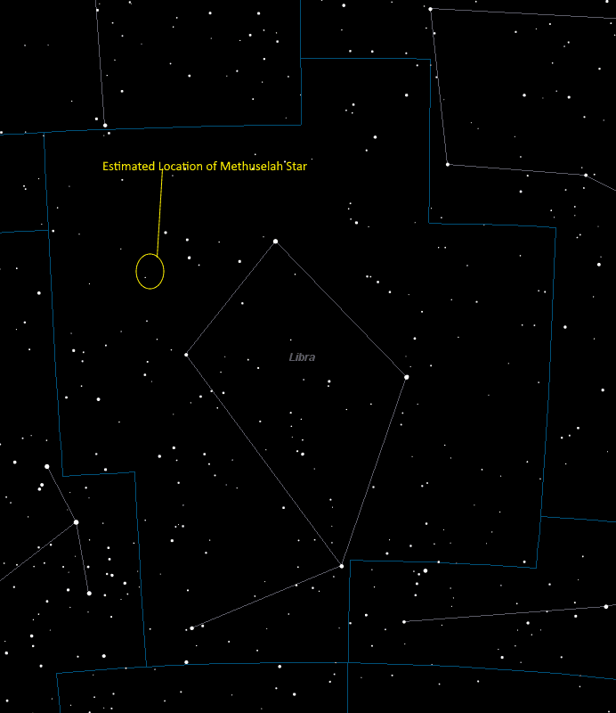 Methuselah Star Location in Libra
