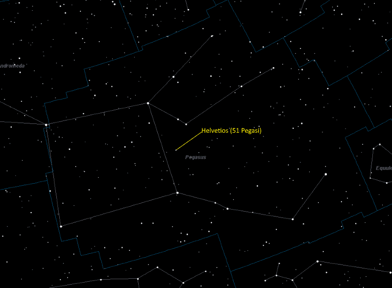 Helvetios Location in Pegasus