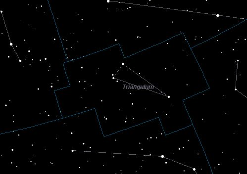 Triangulum Constellation Star Map