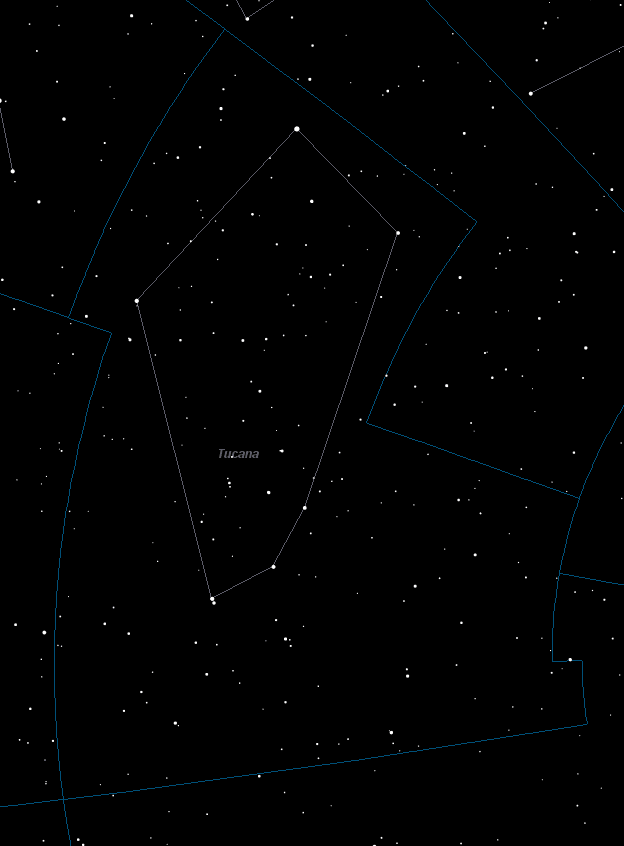 Tucana Constellation Star Map