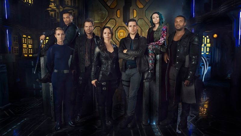 Group picture of the characters from the Dark Matter series