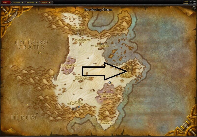 Location of The Battle for Mount Hyjal