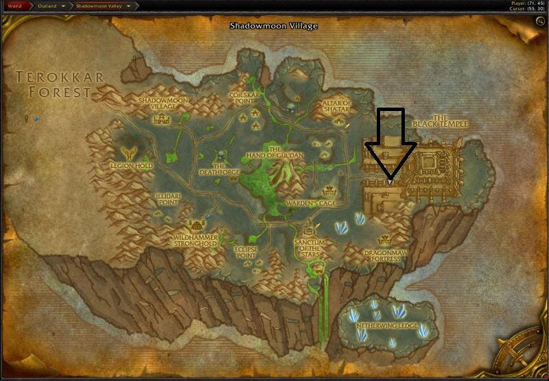 Location of Black Temple