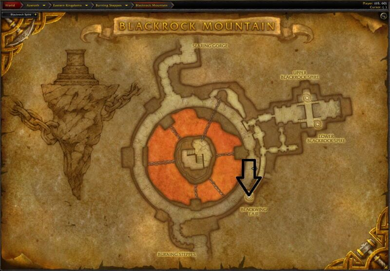 Location of Blackwing Lair