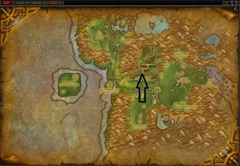 Location of Dire Maul